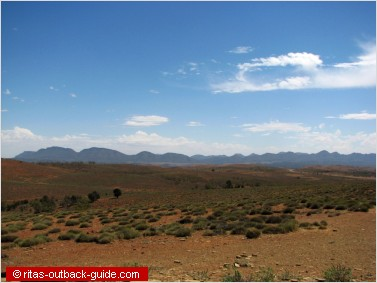 Scenery from Stokes lookout in the Flinders Ranges