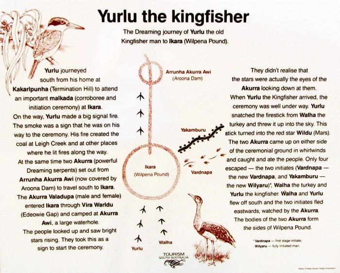 The story of Yurlu the kingfisher