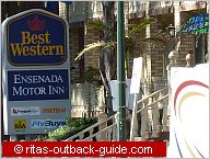 best western ensenada sign