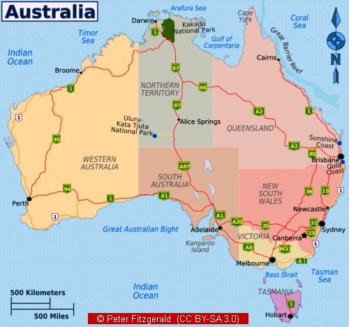 Australian Facts Climate Population And Other Facts About Australia - Australia climate map