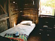 bed in an old shed