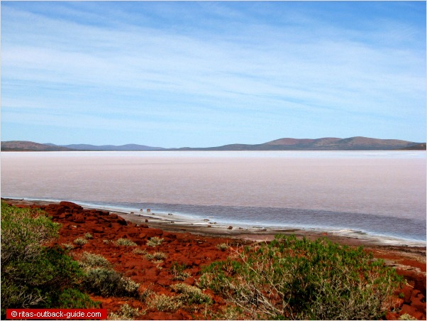 salt lake in the outback