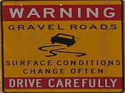 warning sign to drive carefully