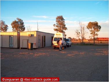 cabins at a caravan park