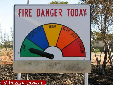 sign with fire danger warning