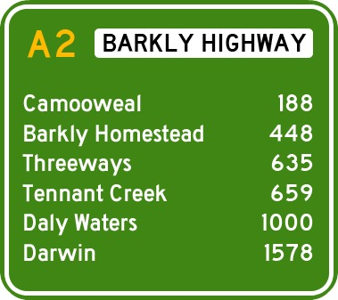 distances barkly highway