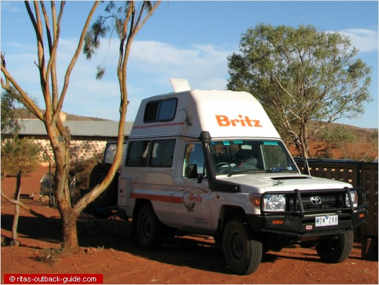 Campervan in the Outback