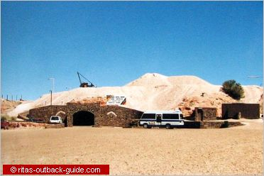 entrance to umoona mine and museum