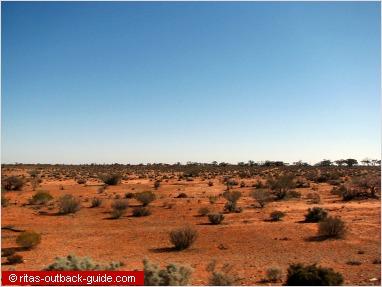 lonely landscape along the stuart highway