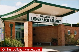 airport entrance in longreach