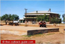 old hotel in the outback
