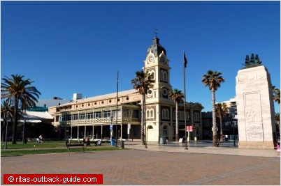 town hall and memorial in glenelg