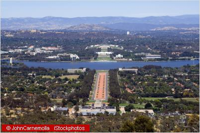 canberra from air
