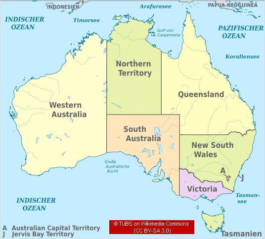 Facts about Australia The Australian States – Australia Map with States and Capital Cities