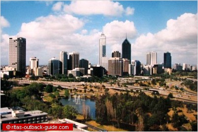 view of perth from queens park