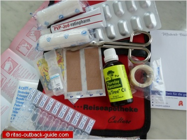 ingrediences first aid kit