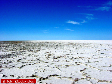 dry salt lake