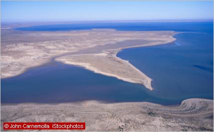 salt lake with water
