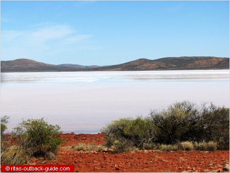 salt lakes make up beautiful outback scenery