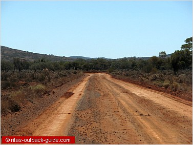 gravel road to mount ive