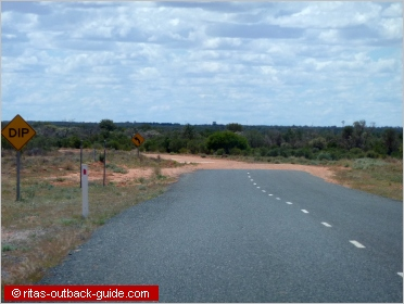 change in road surface