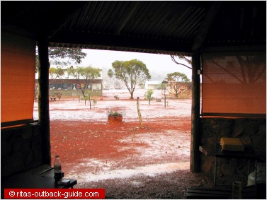 rain in the outback