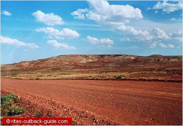 The Oodnadatta Track passes the Stuart Range at Barton Gap
