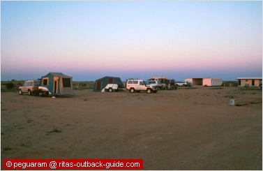 early morning camper in the outback
