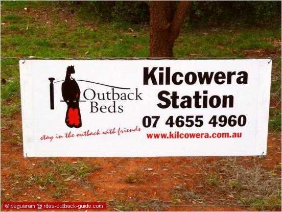 sign promoting kilcowera station