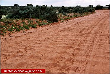 corrugated outback track