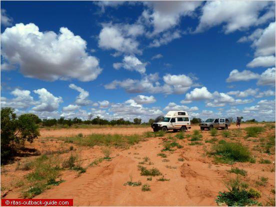 campervan on a dirt road