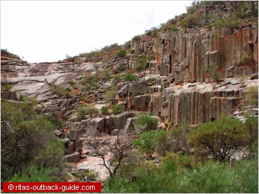organ pipes rock formation