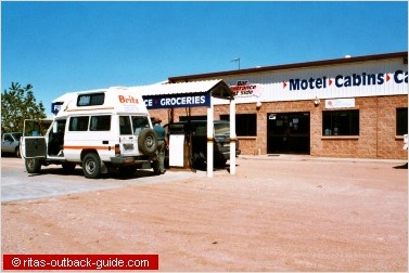 fuel station in the outback