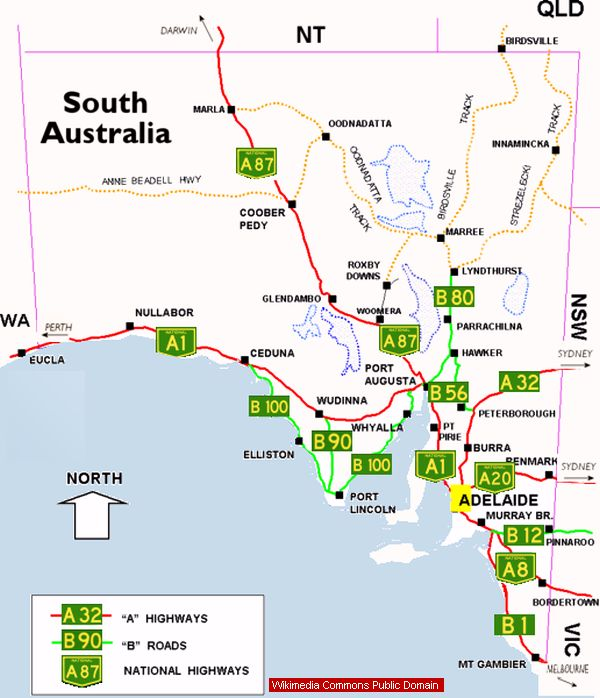 Outback South Australia Facts famous tracks rugged mountains – Driving Map of Australia
