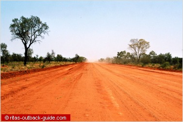 red and dusty road