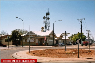 post office and roundabout longreach