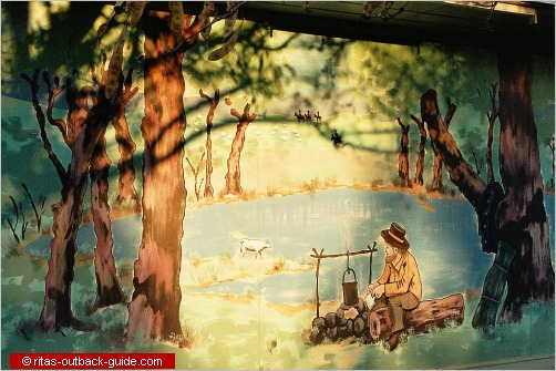 mural of the billabong scene