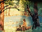 mural with waltzing matilda scene