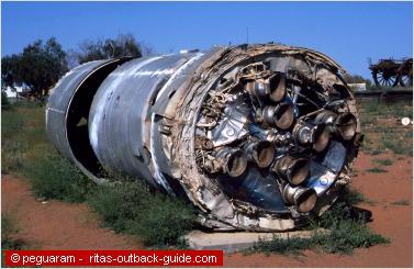 debris of a rocket