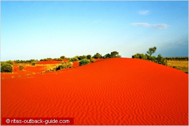 colourful sand hill