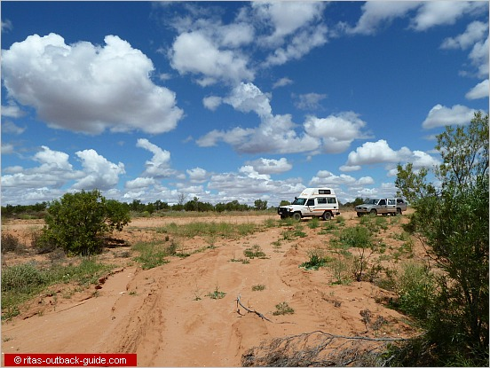 two cars in the outback
