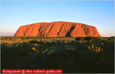 red-glowing rock