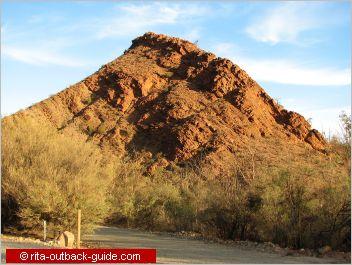 colourful rocky hill
