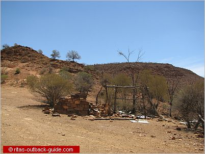 remains of a camp