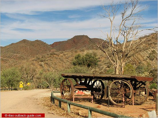Old waggon at Arkaroola resort, Flinders Ranges, South Australia