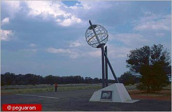 marker at the tropic of capricorn