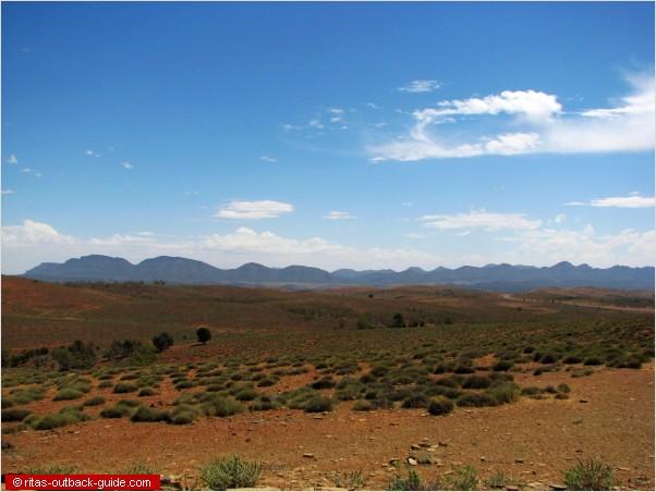 rugged mountain range