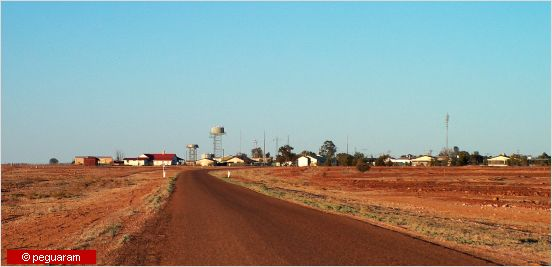 town in the distance