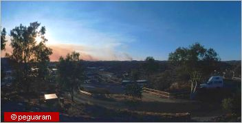 smoke and fires on the horizon