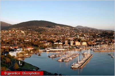 hobart harbour from air